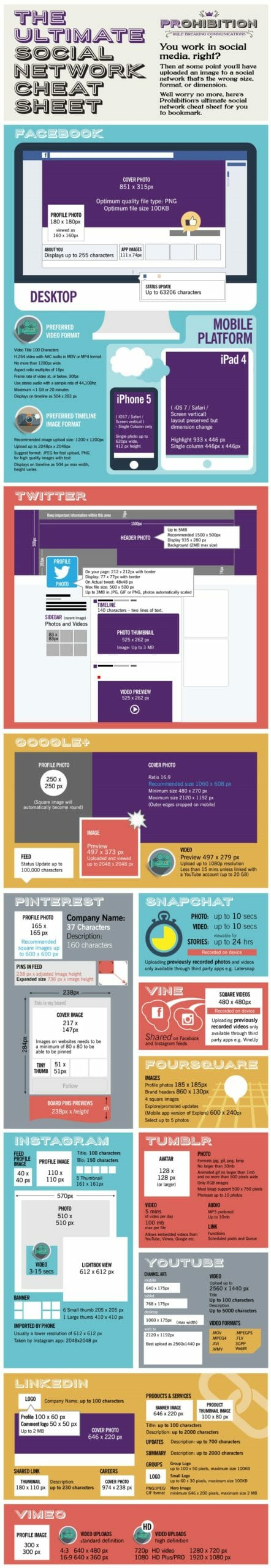 The Ultimate Social Media Size Cheat Sheet