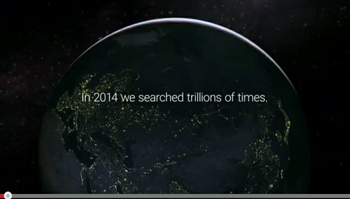 2014 in search terms a video from Google